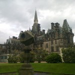 Multi-faceted sundial at Fettes College