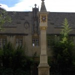 The famous Pelican Dial at Corpus Christi College, Oxford