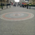 Analemmatic sundial outside Westminster Abbey & Parliament