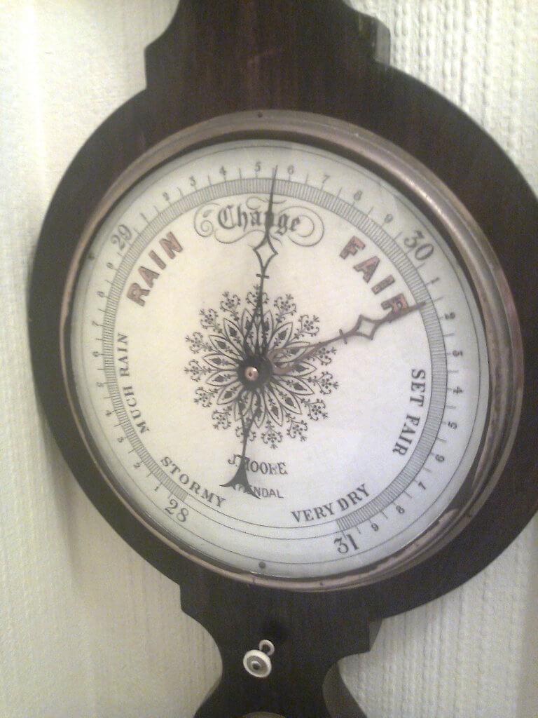 Wheel Barometer - J Moore Kendal.
