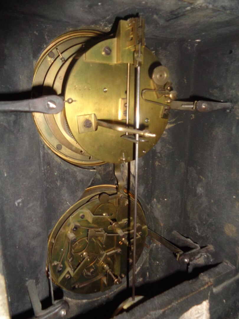 French Brocot movement with Perpetual Calendar - details of movement
